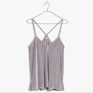 Madewell Silver Gray Tank Cami Medium Polyester